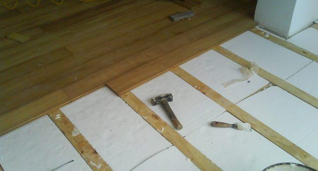 instalacion de tarima de madera